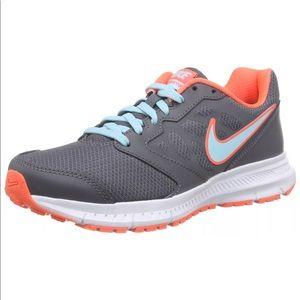 Nike Shoes - Nike downshifter 6 pewter/hyper orange sneakers!
